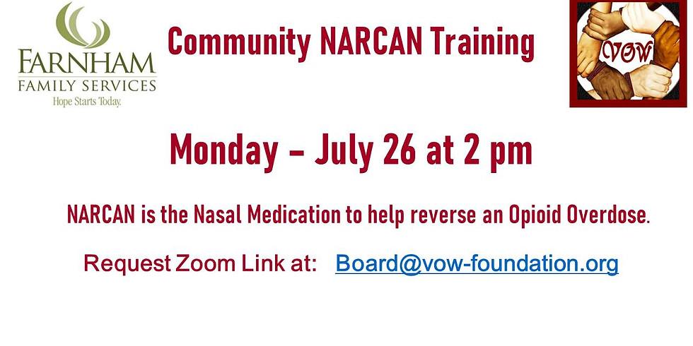 NARCAN Training 7/26 at 2 PM