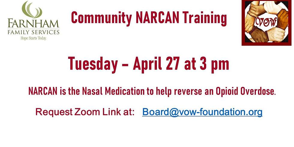 NARCAN Training 4/27 at 3 PM