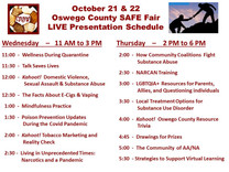 Live Presentation Schedule for the  SAVE Fair