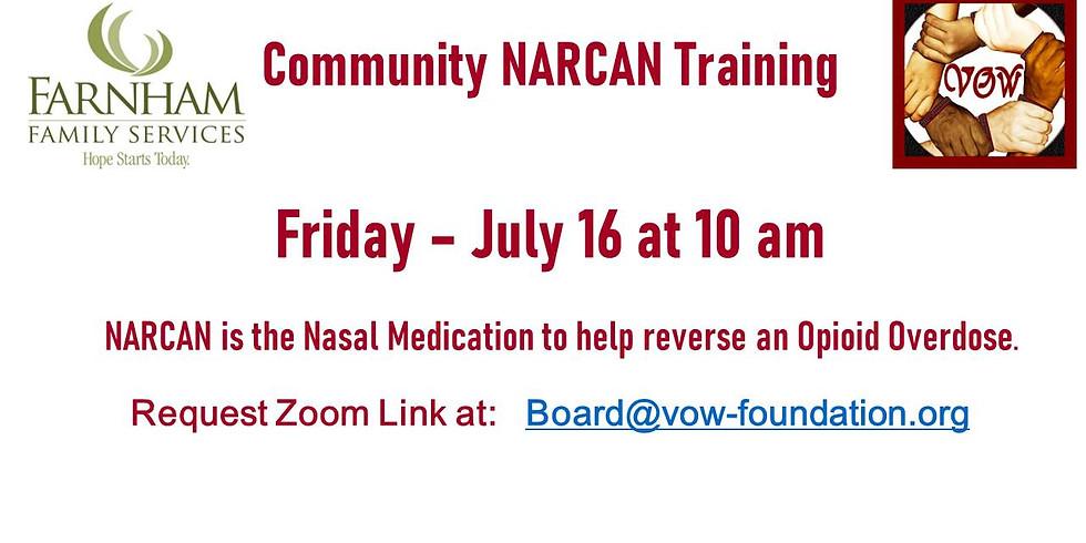 NARCAN Training 7/16 at 10 AM