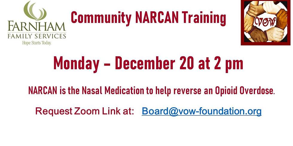 NARCAN Training 12/20 at 2 PM