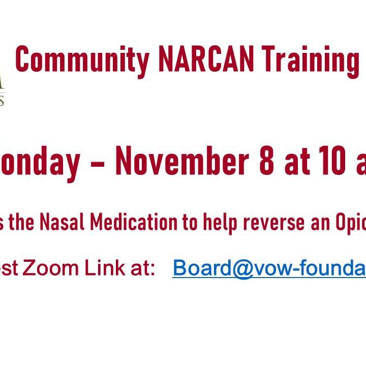 NARCAN Training 11/8 at 10 AM