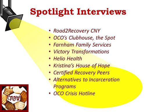 Spotlight Interviews will Premiere October 20th