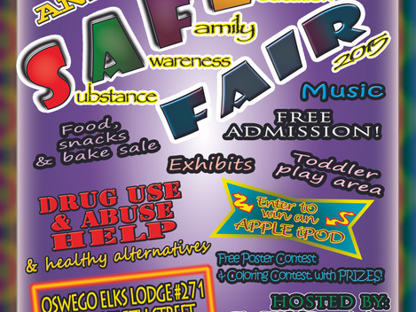 SAFE Fair today!  Free Fun Event for All Ages in Oswego!