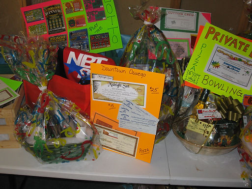 Local Businesses Donated to Raffle Baskets for the SAFE Fair