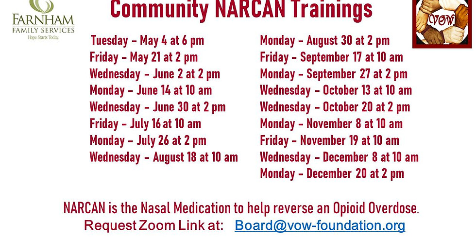 NARCAN Training (RESCHEDULED TO 4/27)