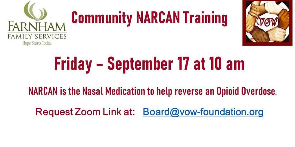 NARCAN Training 9/17 at 10 AM