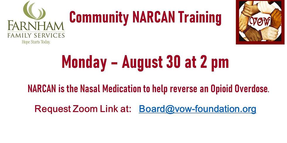 NARCAN Training 8/30 at 2 PM