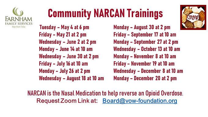Community Help = NARCAN Training