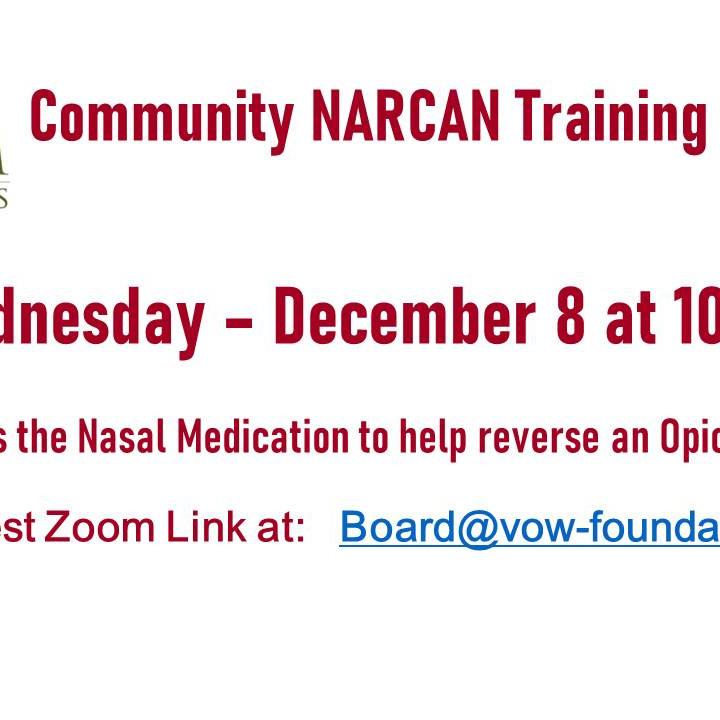 NARCAN Training 12/8 at 10 AM