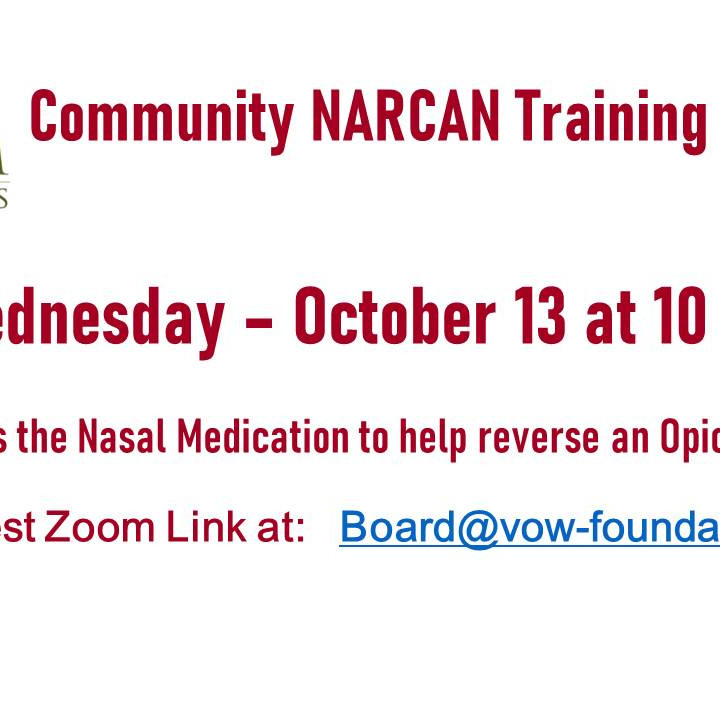 NARCAN Training 10/13 -----CANCELLED
