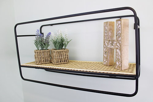 Large Wall Hanging Shelf Unit in Metal Weave Effect Shipping furniture UK