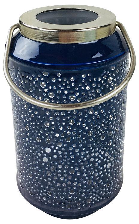 Bubble Ridge Blue Lantern 18cm Shipping furniture UK