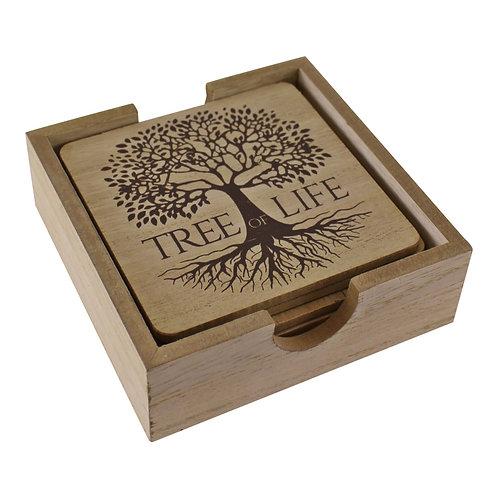 6 Piece Tree Of Life Coaster Set Shipping furniture UK