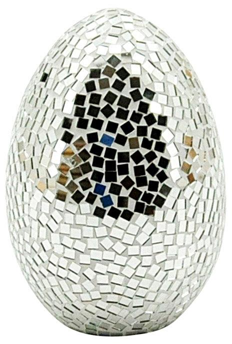 Silver Mosaic Egg 30cm Shipping furniture UK