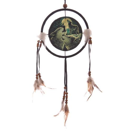 Decorative Fantasy Wolf Family Dreamcatcher Small Novelty Gift