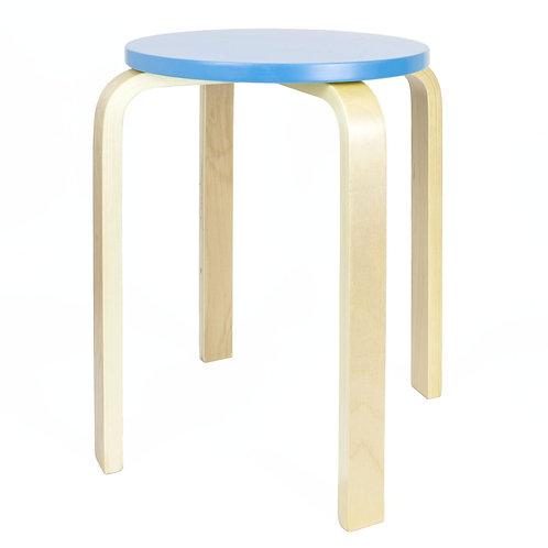 Wooden Stool - Blue   Home Essentials UK
