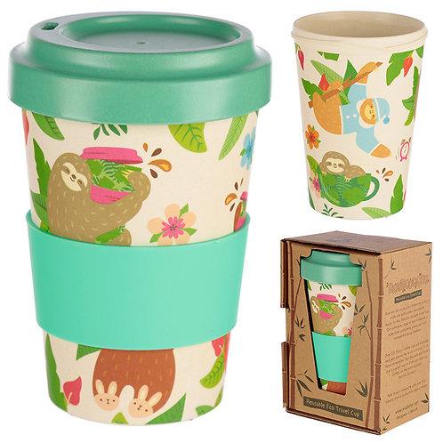 Bamboo Composite Sloth Travel Mug Novelty Gift