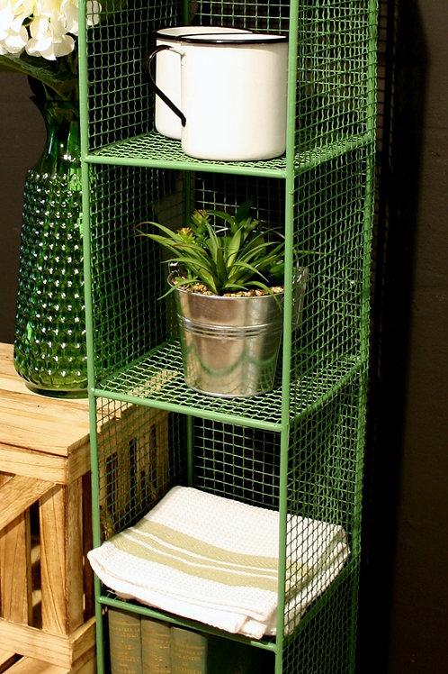 4 Tier Square Shelf Unit Green Shipping furniture UK