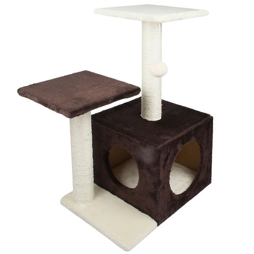 Cat Tree with Scratch Posts - Brown | Home Essentials UK