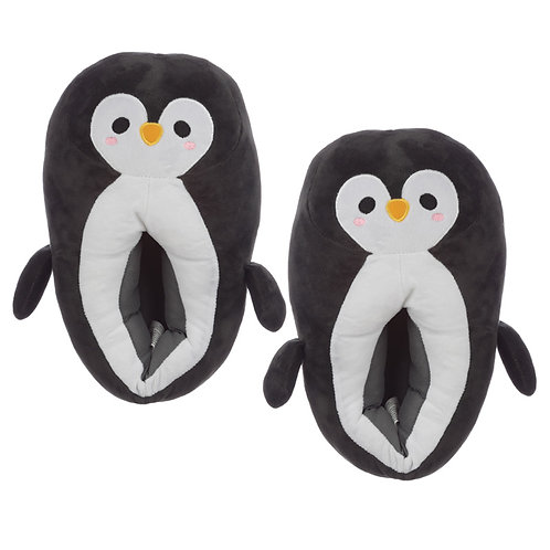 Cute Penguin Unisex One Size Pair of Plush Slippers Novelty Gift