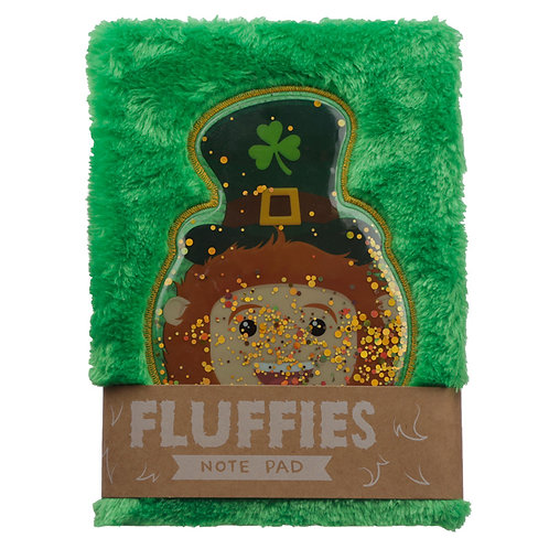 Fluffy Plush Notebook - Lucky Leprechaun Novelty Gift
