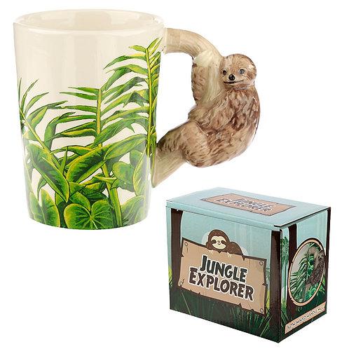 Ceramic Sloth Shaped Handle Mug Novelty Gift