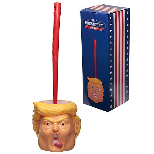 Fun President Head Toilet Brush and Holder Novelty Gift