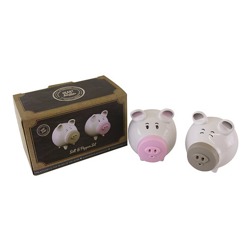 Salt & Pepper Condiment Set, Pigs with Silicon Snouts Shipping furniture UK