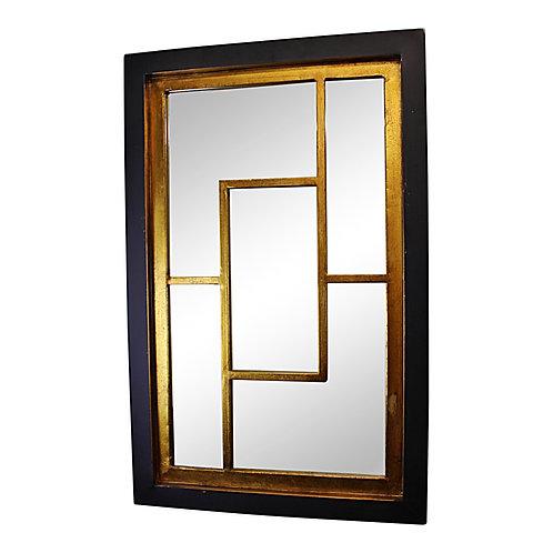 Geometric Black & Gold Wall Hanging Mirror Shipping furniture UK