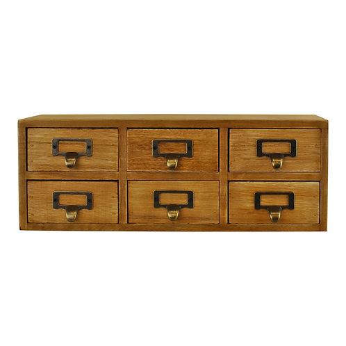 6 Drawer Double Level Small Storage Unit, Trinket Drawers  Shipping furniture UK