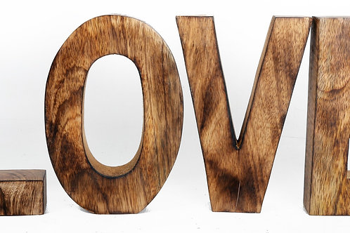 LOVE Wooden Letters Sign Shipping furniture UK