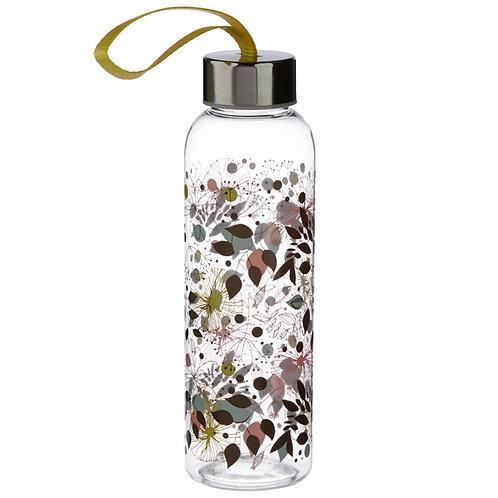 Botanical Wisewood 500ml Reusable Water Bottle with Metallic Lid Novelty Gift