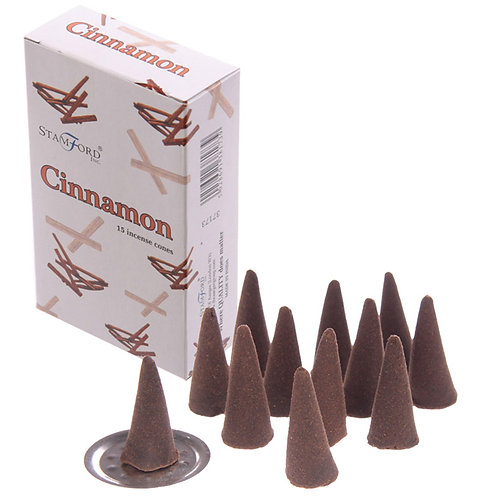 Novelty Gift Stamford Hex Incense Cones - Cinnamon