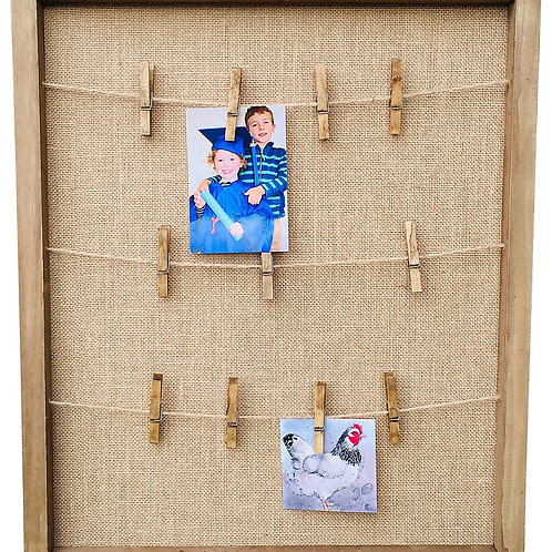 Rustic Wooden Notice Board Shipping furniture UK