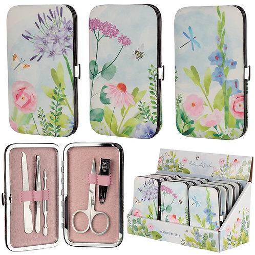 Floral Botanical Design Manicure Set Novelty Gift