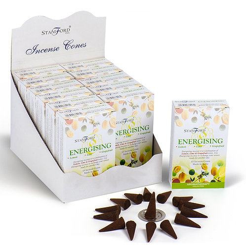 Stamford Hex Incense Cones - Energising Novelty Gift [Pack of 12]
