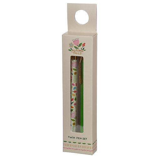 Pen Twin Set - Autumn Falls Novelty Gift  [Pack of 2]