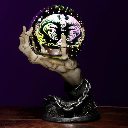 Skeleton Hand LED Metallic Orb Novelty Gift