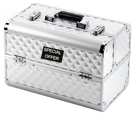 Vanity Case / Makeup Box Heavy Duty Silver Shipping furniture UK