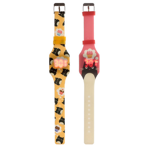 Silicone Digital Watch - Feline Fine Cat [Pack of 1] Novelty Gift