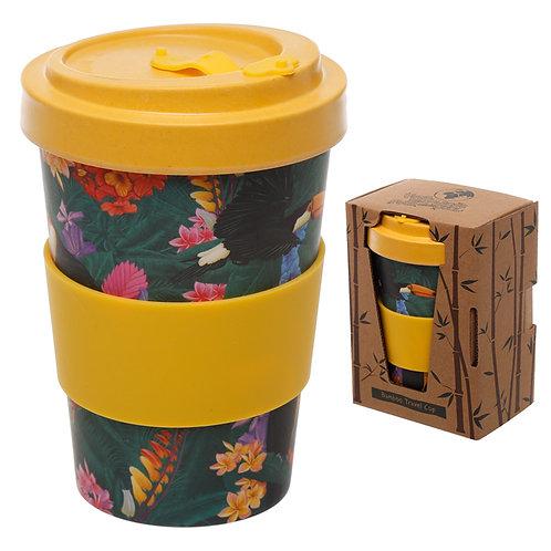 Bamboo Composite Toucan Screw Top Travel Mug Novelty Gift