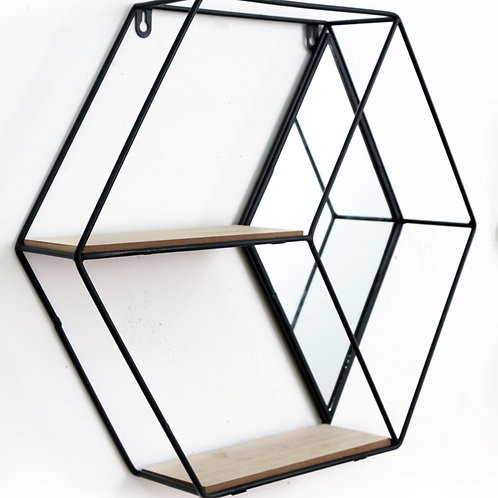 Hexagon Unit With Mirror & 2 Shelves Shipping furniture UK