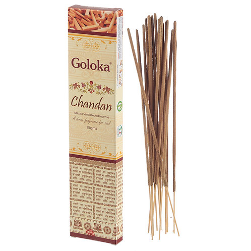 Goloka Masala Incense Sticks - Chandan Sandalwood Novelty Gift