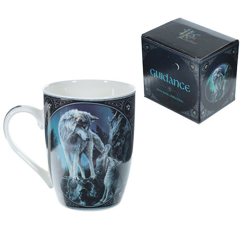 Wolf Guidance Lisa Parker Designed Porcelain Mug Novelty Gift