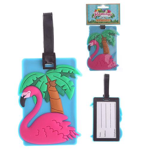 Fun PVC Luggage Tag - Flamingo Novelty Gift