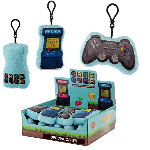 Plush Game Controller Sound Keyring Novelty Gift