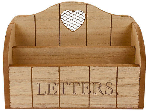 Letter Rack With Heart 25cm Shipping furniture UK