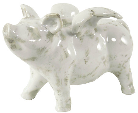 Large Ceramic Flying Pig, 32cm Shipping furniture UK