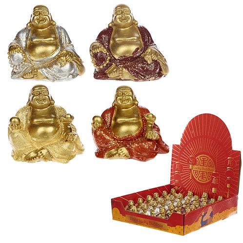 Lucky Glitter Buddha Mini Collectable Figurine Novelty Gift